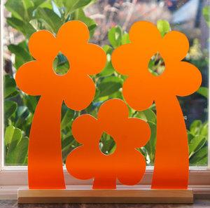 Orange blommor