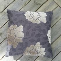 Kudde Blomma/grå
