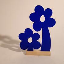 2 Blå blommor