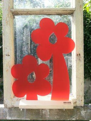 2 Röda Blommor